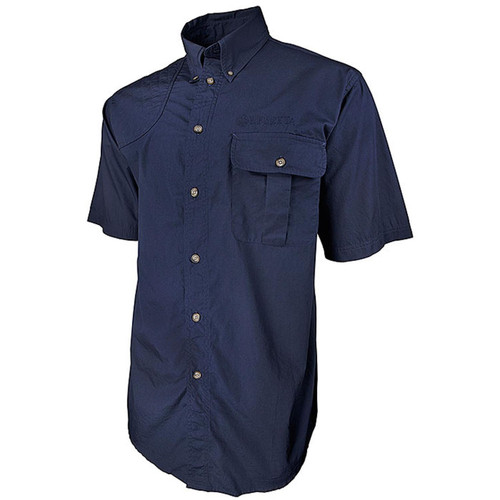 Beretta New TM Short Sleeve Shooting Shirt-Blue