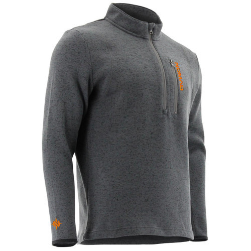 Nomad Outdoors Slaysman Heathered 1/4 Zip-True Gray Heather