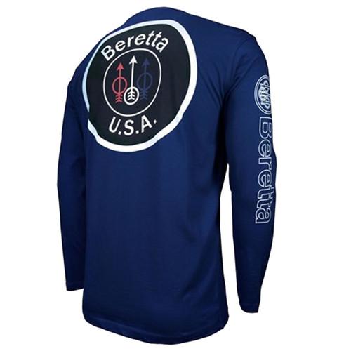 Beretta T-shirt à manches longues avec logo USA - Bleu marine