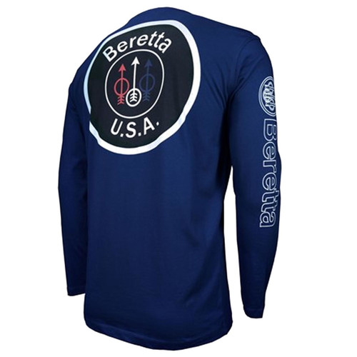 beretta USA Logo Langermet T-skjorte-Navy