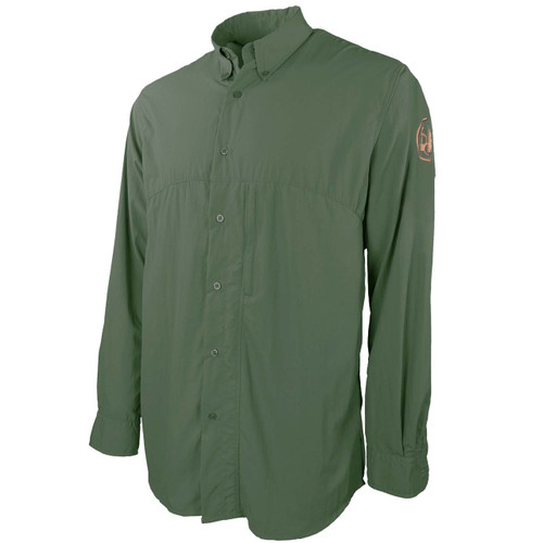 beretta Buzzi Shooting Shirt-Long Sleeve-Green