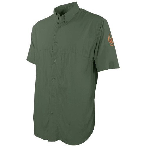 beretta Buzzi Shooting Shirt-Short Sleeve-Green