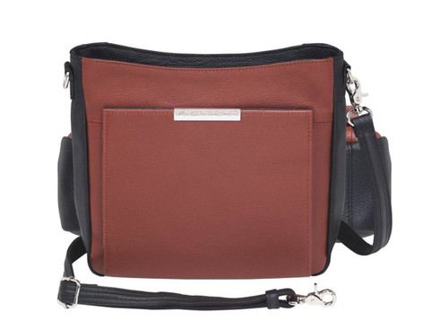 Gun Tote'n Mamas Cinnamon Slim/Crossbody Cowhide Concealed Carry Bag