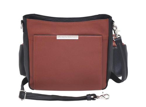 Gun Tote'n Mamas Cinnamon Slim/Crossbody Cowhide Concealed Carry Bag