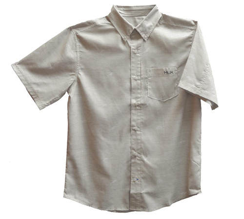 Huk Woven Teaser Short Sleeve Shirt-Bone