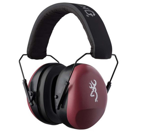 Browning Buckmark Hearing Protectors-Mauve