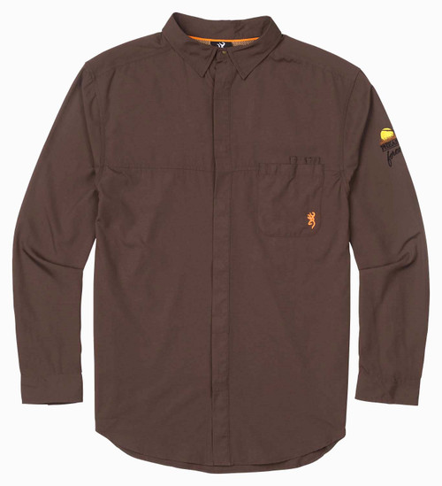 Browning Lightweight Hunting Shirt-Chocolate