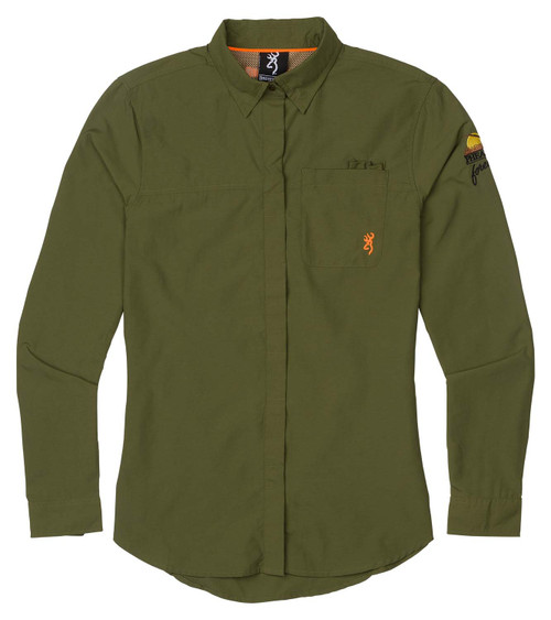 Browning Women's Upland Lighweight Shirt-Olive