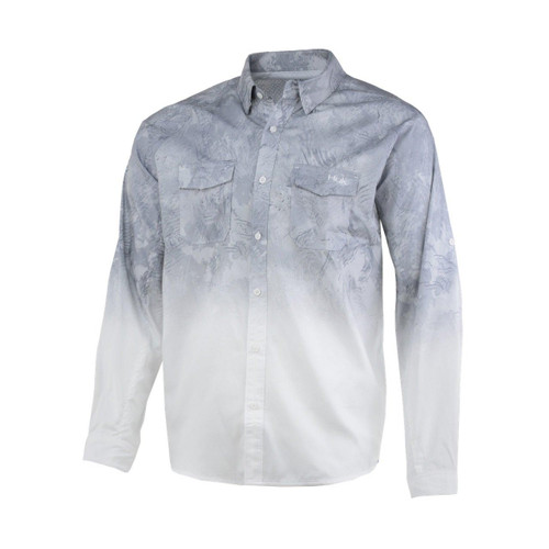 Huk Current Long Sleeve Shirt-Sub Zero