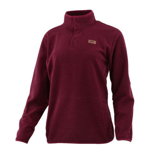 Huk Women's Channel Pop Over-Maroon