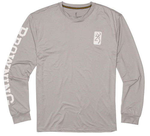 Browning Рубашка от солнца с длинным рукавом - серый / белый