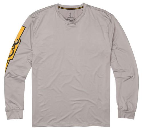 Browning Chemise de soleil à manches longues-Gris / Or