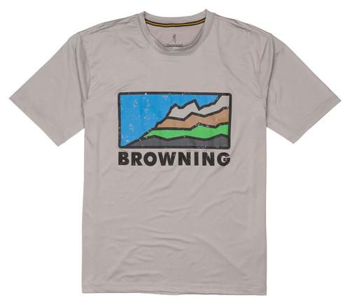 Browning Short Sleeve Sun Shirt-Gray