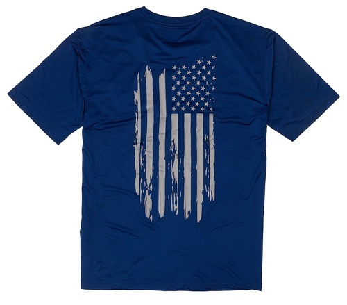 Browning Short Sleeve Sun Shirt-Navy