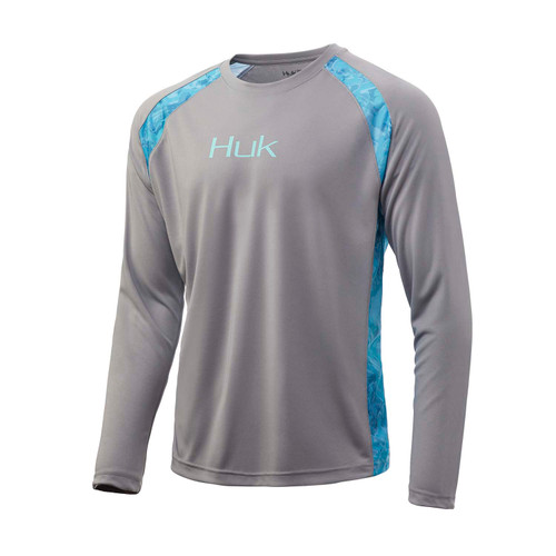 Huk T-shirt à manches longues Strike Solid-Gris