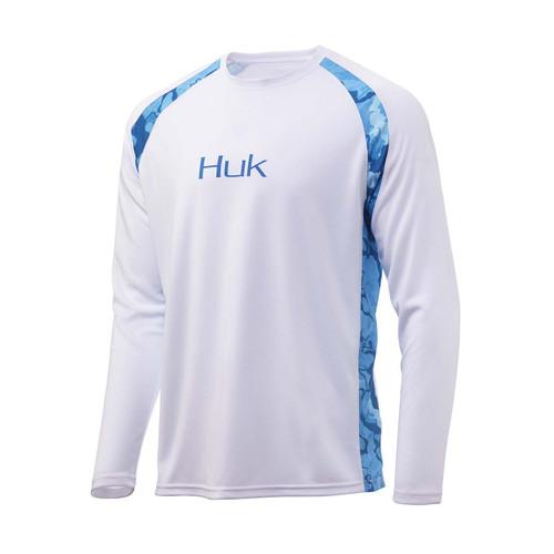 Huk T-shirt à manches longues uni Strike-Blanc