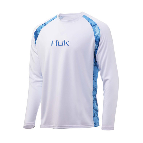 Huk Strike Solid Long Sleeve Tee-White