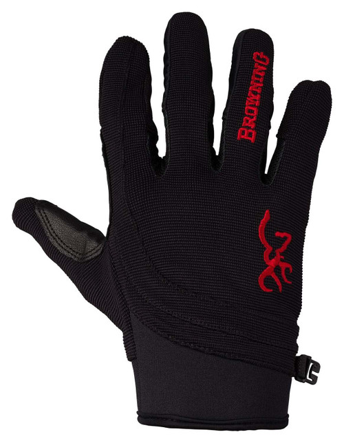 Browning Ace Shooting Gloves-Black/Red