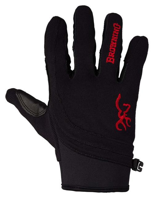 Browning Ace Skytthansker-svart / rød