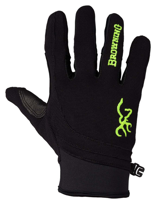 Browning Ace Shooting Gloves-Black/Volt