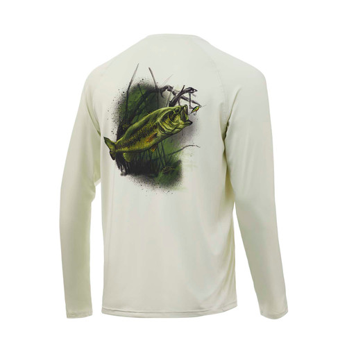 Huk T-shirt à manches longues Pursuit Large Mouth
