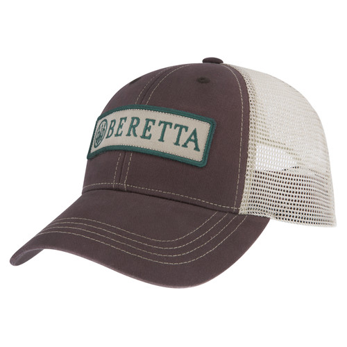 Casquette Trucker Patch Beretta - Marron à l'avant