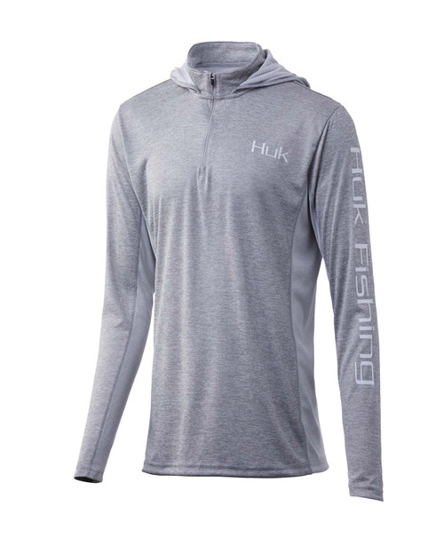 Huk Women's Coldfront Icon X 1/4 Zip-True Gray Heather