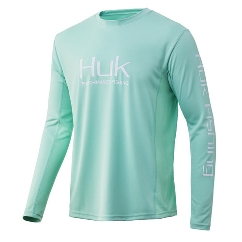 HUK ICON LONG SLEEVE-LICHEN