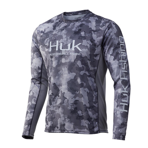 Huk Icon X KC Refraction Camo Long Sleeve-Storm