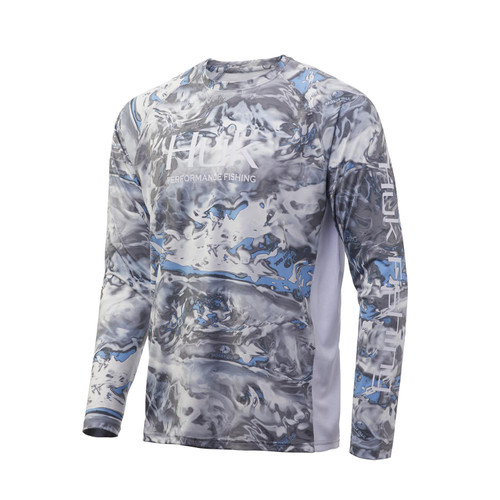 Huk Mossy Oak Pursuit Langermet Tee-Mossy Oak Hydro-standarder