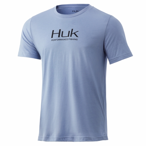 Huk Performance Fishing Kortermet Tee-Dusk Blue Heather
