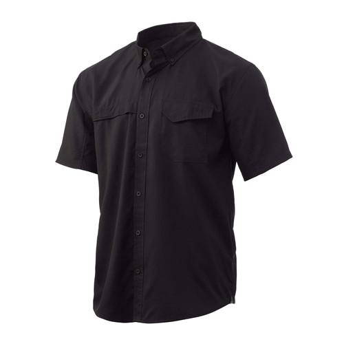 Huk Tide Point Solid Short Sleeve Shirt-Black