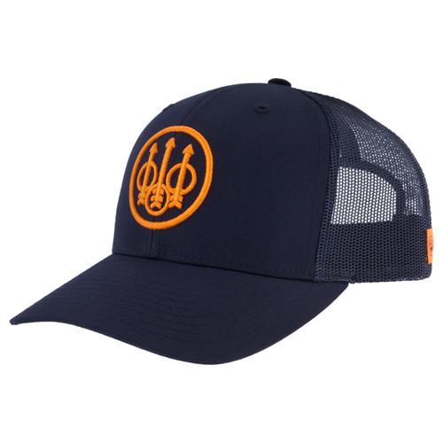 BERETTA STRAIGHTPULL TRUCKER HAT-NAVY