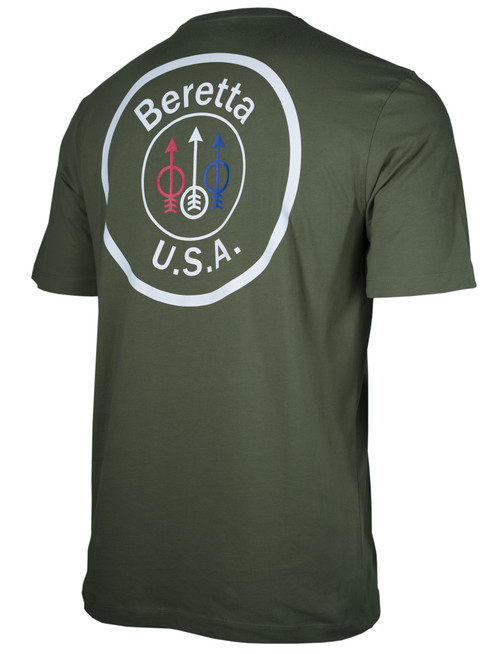 Beretta USA Logo Short Sleeve T-Shirt-Army Green