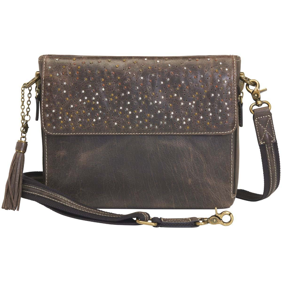 4239d714ce7 Gun Tote'n Mamas Distressed Buffalo Leather Shoulder CCW Clutch