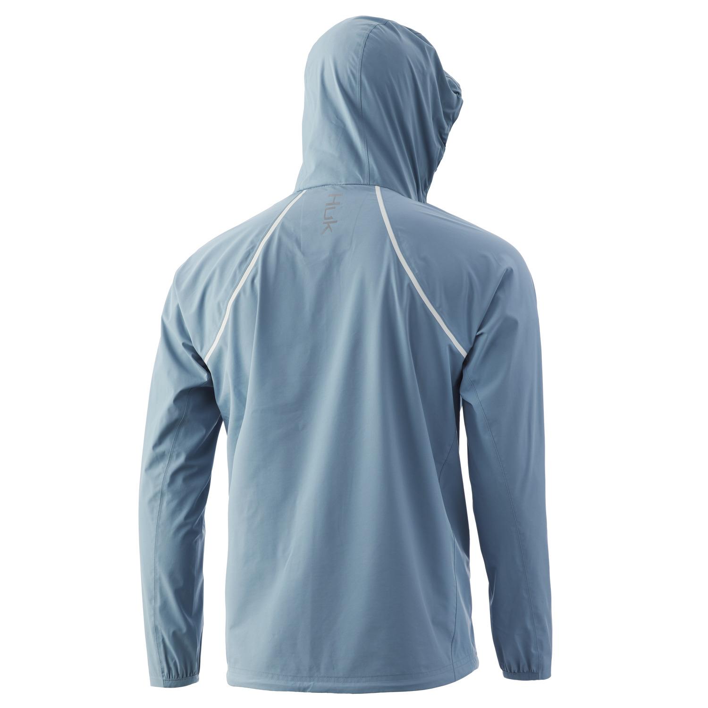 Huk Pursuit Jacket- Silver Blue- Back
