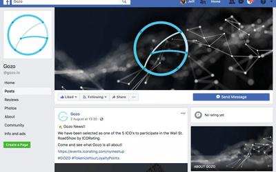 Gozo.io's Facebook strategy for ICO Marketing