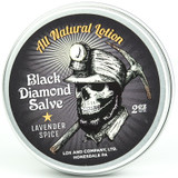Lox Black Diamond Salve All Natural Body Lotion & Tattoo Brightener
