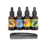 Lox and company Rooster and Raven's Beard Oil Set