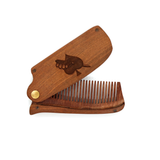 Golden Sandalwood Folding Comb