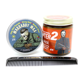Wardaddy had a tank and John Wick had a mustang. It was just fitting to call this duo the Hell on Wheels Set. Wardaddy Wax and Bogeyman Beard Butter: Chapter 2 make a killer combination when mixed together.