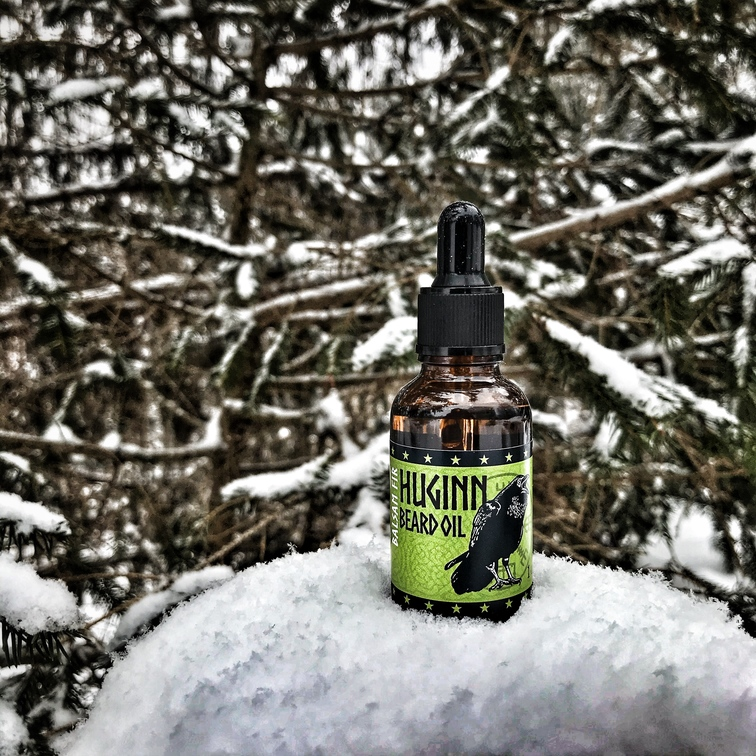 Lox Huginn Handcrafted Beard Oil All Natural Viking Odin's Raven