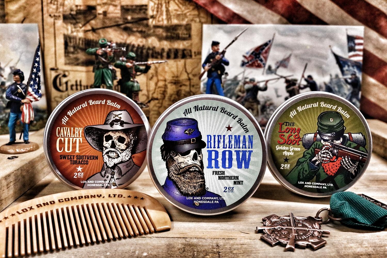 Lox Beard Balm Battle Set American Civil War Union Confederacy Berdan Sharpshooter Sniper Infantry Cavalry