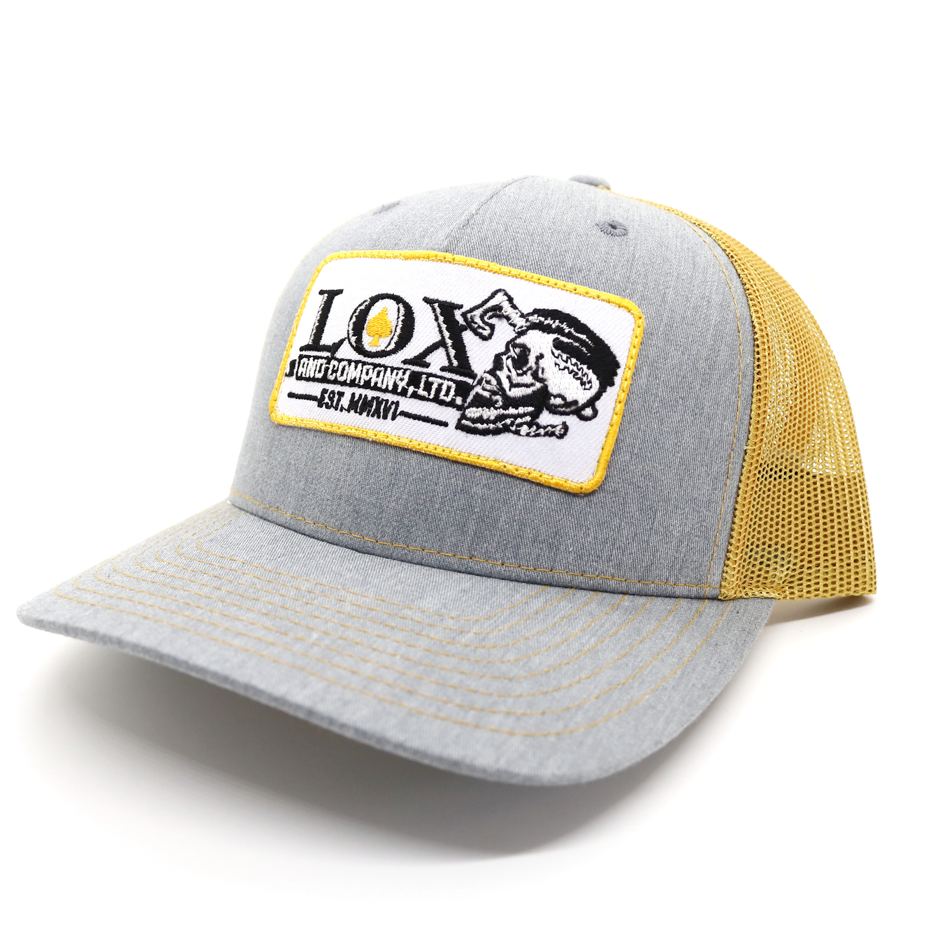 Lox and Company Grey and Tan Trucker Hat
