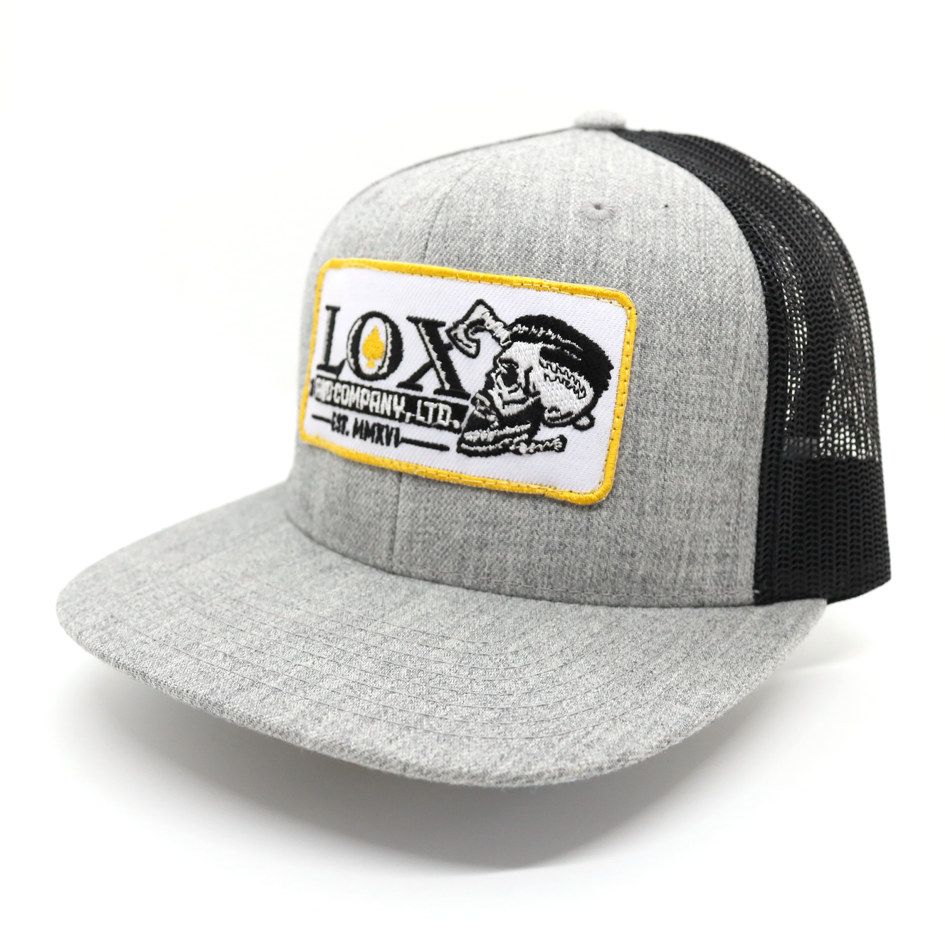 Lox and Company Black and Grey Trucker Hat