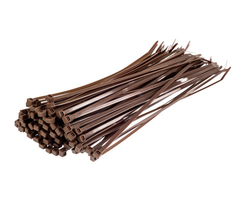 Brown Nylon Cable Ties (Pack of 100)