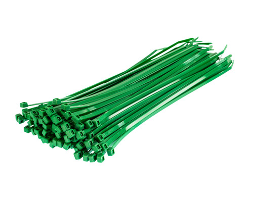 Green Nylon Cable Ties (Pack of 100)