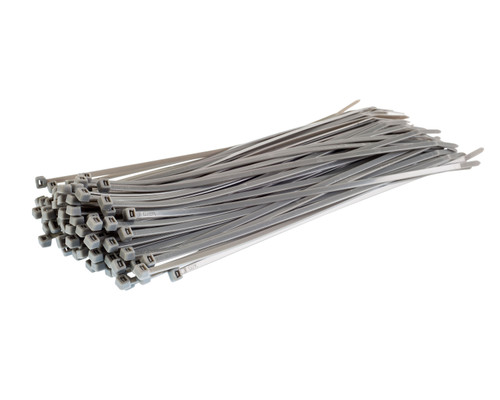 Silver / Grey Nylon Cable Ties (Pack of 100)