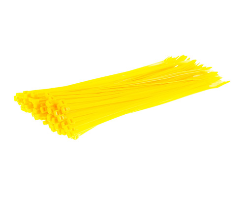 Yellow Nylon Cable Ties (Pack of 100)