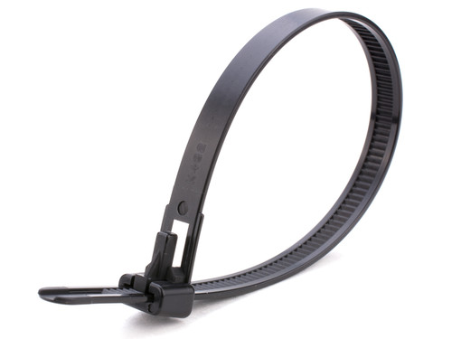 Black Releasable Trigger Cable Ties (Pack of 100)